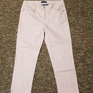 Pink cropped ankle jeans